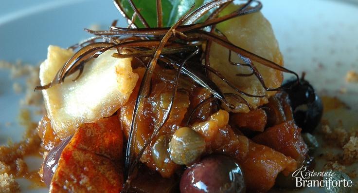 Caponata di pesce e verdure - Ristorante Branciforte