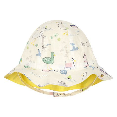 Buy John Lewis Baby Seaside Hat, Off-White/Multi Online at johnlewis.com