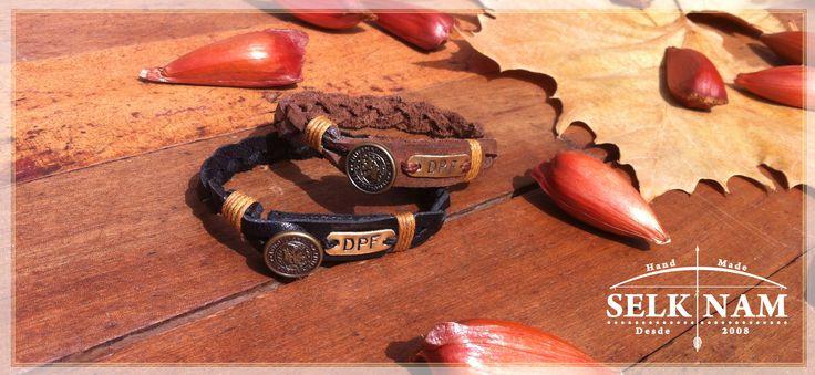 """Nuestras pulseras tambien se llevan de a dos, modelo """"'Calafate"""" personalizada por nuestros clientes ♥ Encuéntranos en Facebook SelkNam handmade"""