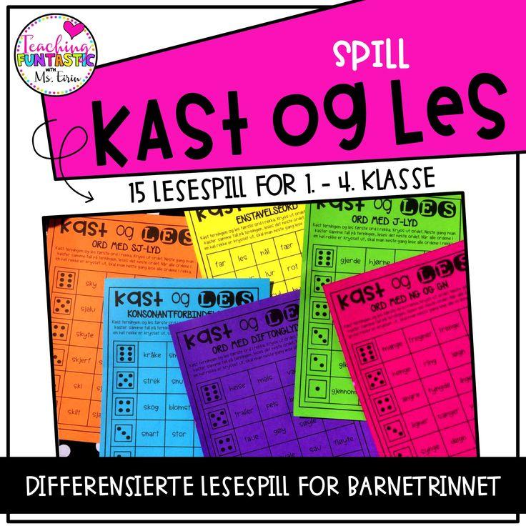 Høyaktuelle lesespill som gjør lesetrening morsomt og engasjerende! Gi elevene lesetrening med hele 15 differensiert spill i norsk :)