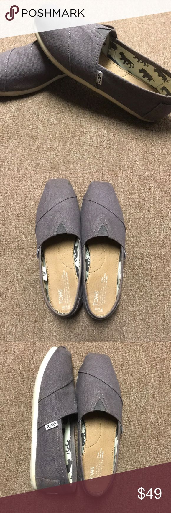Gray Toms Worn maybe one time, GREAT condition, wasn't my right size Toms Shoes Flats & Loafers