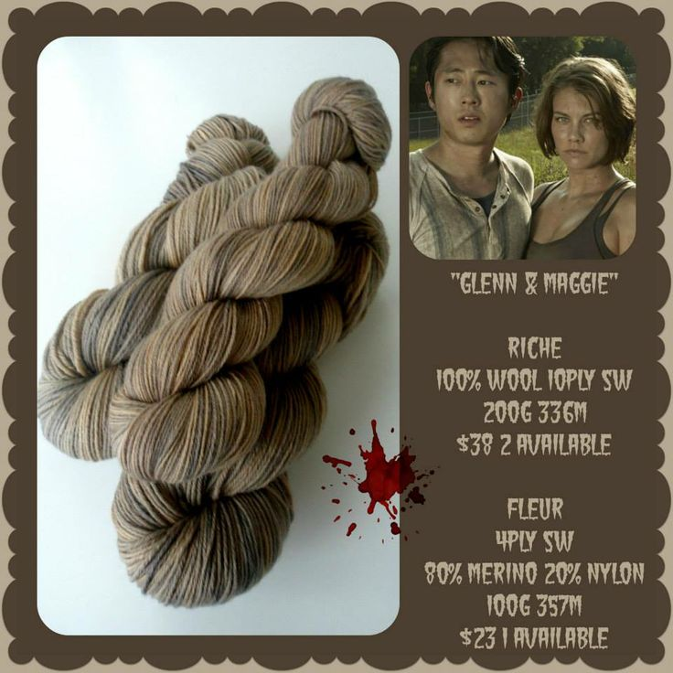 Glenn and Maggie - The Walking Dead | Red Riding Hood Yarns