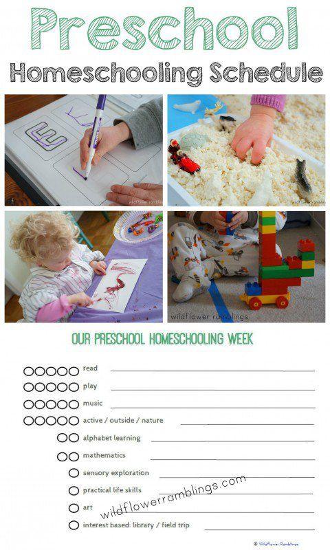Preschool Homeschooling Schedule {free printable!} - Wildflower Ramblings