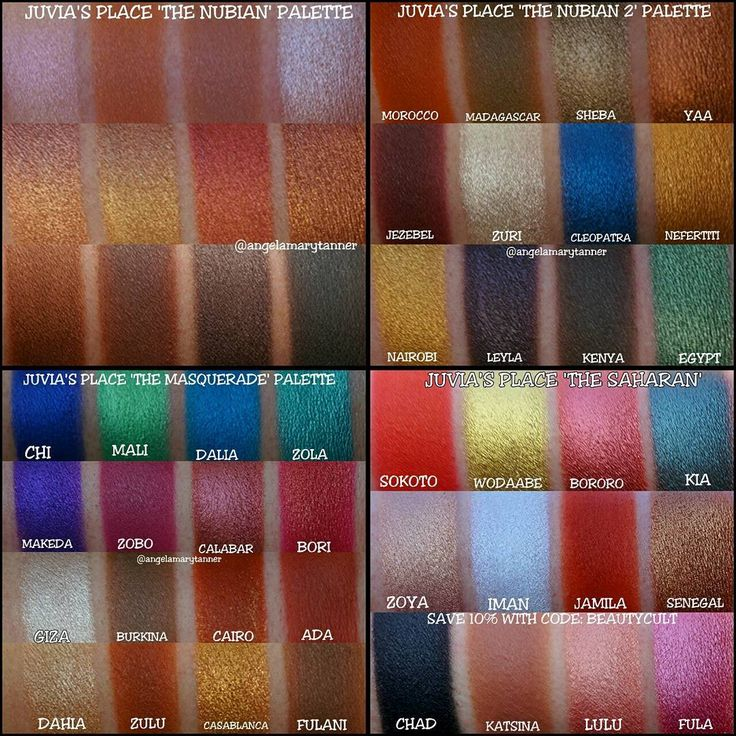 Juvia's Place palettes: The Nubian 1 & 2, The Masquerade, The Saharan - these are designed for dark skin and pigmented on all skin colors! Lovely!