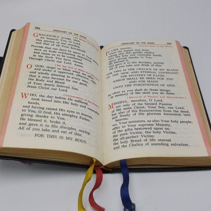Vintage Catholic Missal Lot 2 Marian Mass Book Pre Post Vatican II 2 Juergens | eBay