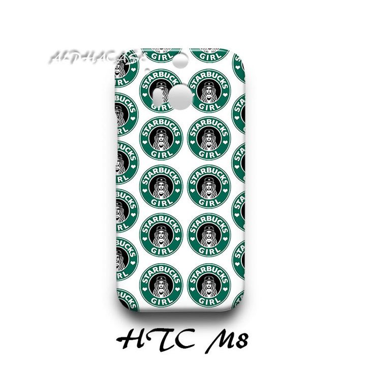 Cute Starbucks Coffee Girl Logo Pattern HTC M8 Hardshell Case Cover