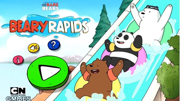 In We Bare Bears Beary Rapids, enjoy swimming along the water ramp and reach the finish first. Log Adventure was too boring! Head over to the water park amusement park with Ice Bear, Grizzly and Panda are ready for a real adventure on this crazy river races game, but only one will be the winner…do you have your favorite?