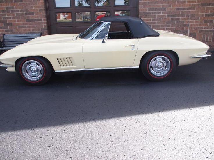 1967 sunfire yellow chevy corvette convertible