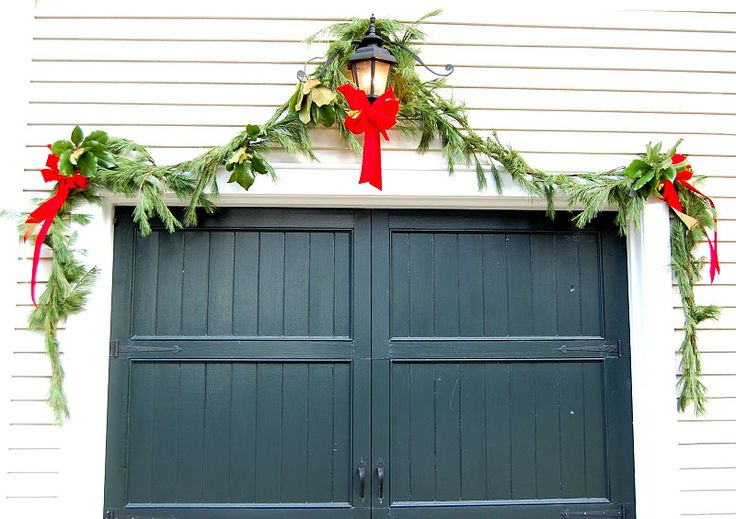 Outdoor garland. a bit more full, hopefully. The holidays are approaching.   Dutchess Overhead Doors, Inc.  Poughkeepsie, NY