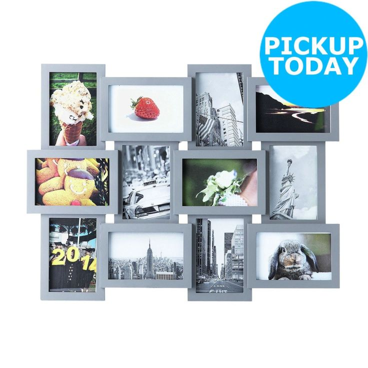 HOME Premier Housewares 12 Print Aperture Photo Frame - Grey -From Argos on ebay in Home, Furniture & DIY, Home Decor, Photo & Picture Frames | eBay