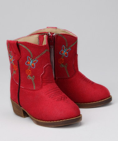 Take a look at this Red Butterfly Cowboy Boot by Dingo on #zulily today!Cowboy Bootdingo, Butterflies Cowboy, Girls Generation, Red Butterflies, Cowboy Boots Dingo, Baby Kiddos, Tornar- Cowboy, Grandbaby Girls, Kids Fun