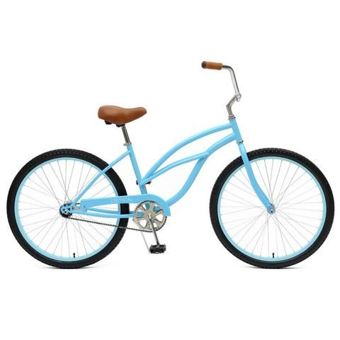 Shop our Single-Speed Women's Beach Cruiser for only $179 with Free Shipping! This bike features a hand-built steel frame for phenomenal shock absorption!