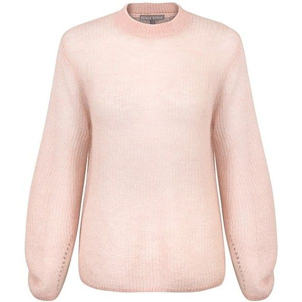Pink Dream Bell Sleeve Jumper | Oliver Bonas ($85) ❤ liked on Polyvore featuring tops, sweaters, bell sleeve tops, olive top, olive green top, pink sweater and jumpers sweaters