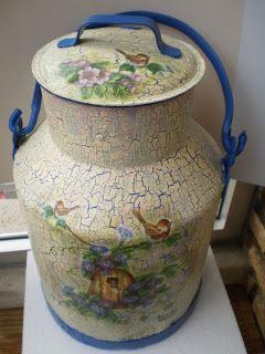 Ejemplo de decoración de lechera