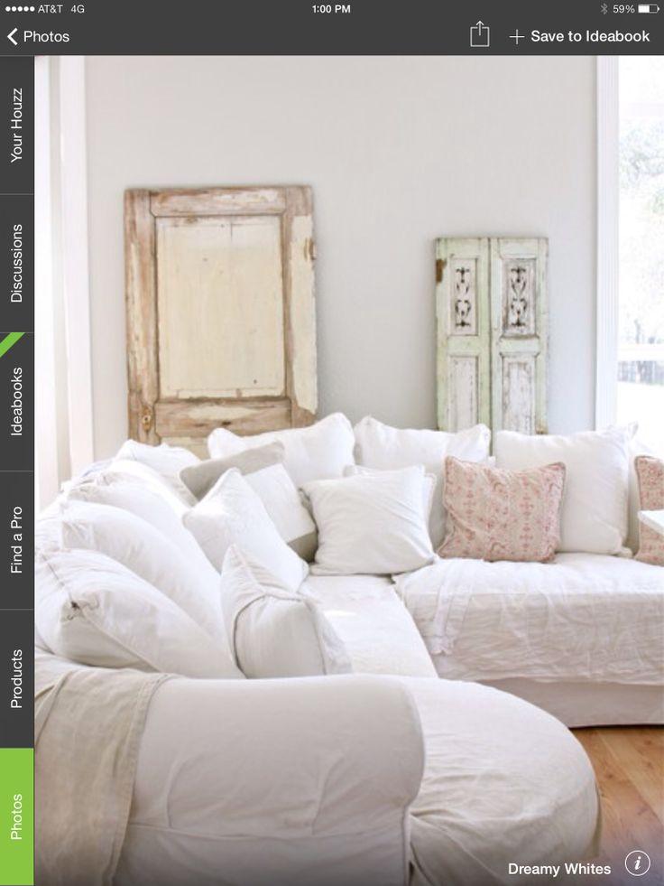 Shabby Chic White Living Room Decor Penney Pinterest