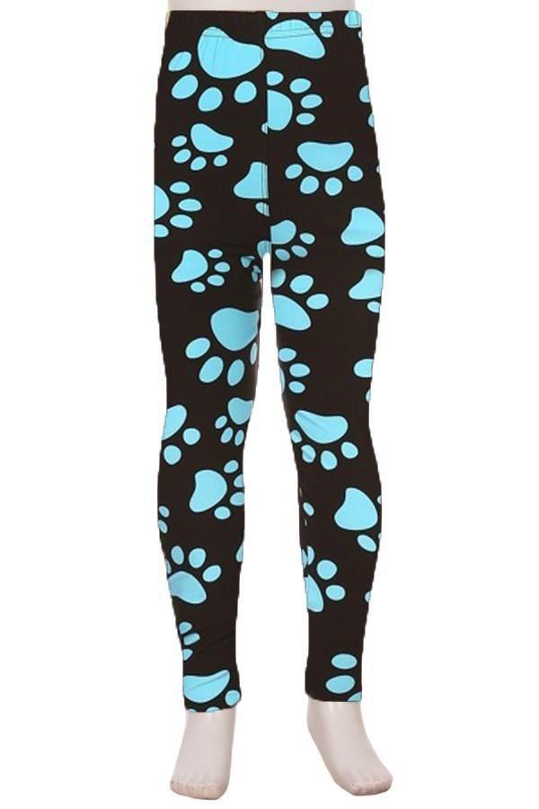 8dcc9a6ff18694 WHLI) Black + Blue Paw Print Leggings | Products | Leggings, Pajama ...