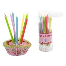 Cake Candles - Assorted Colors - Set of 20