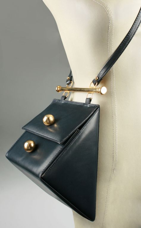 Architectural Triangle Shoulder Bag Italy