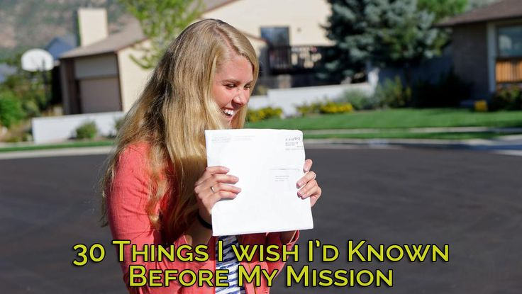 A Mormon blog. A list of 30 things I wish I'd known before my Mission. Hopefully these can help you as well as someone you know!