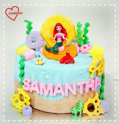 Loving Creations for You: 'Little Mermaid' Chiffon Cake