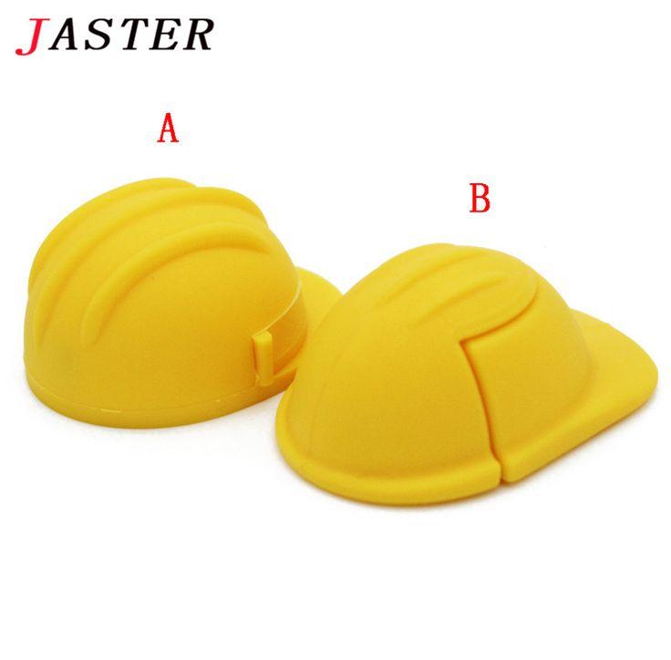 JASTER Helmet pendirve usb flash drive 4GB 8GB 16GB 32GB safety helmet memory stick U disk gift flash hat pen drive //Price: $9.95      #followme