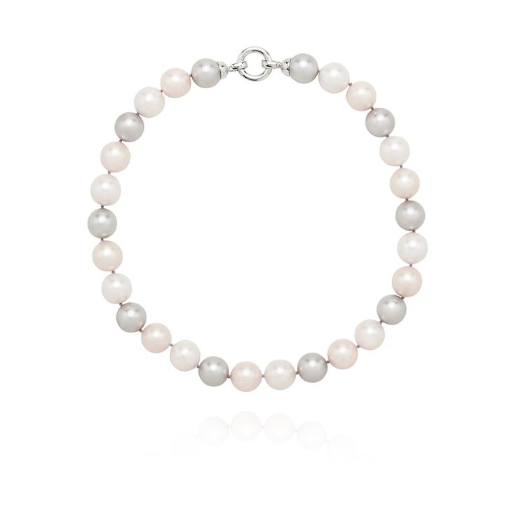 Pastel Pink and Grey Pearl Necklace – Kate McCoy