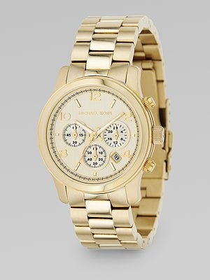 I love big, gold, boyfriend watches: Kinda Watches, Chronograph Watches Goldton, Kors Stainless, Chronograph Watchgoldton, Michael Kors Watches, Gold Watches, Steel Chronograph, New Baby, Stainless Steel
