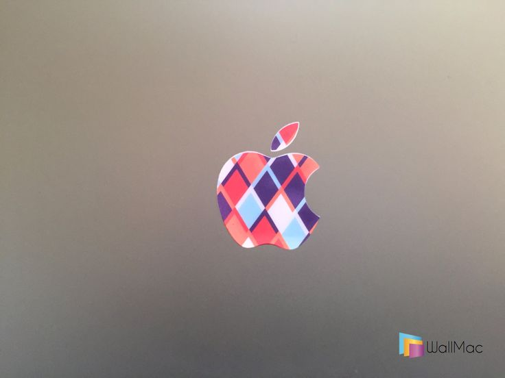 Modern Art Glowing Backlit Apple Logo for MacBooks 2 Decals Stickers per Order by WallMac on Etsy