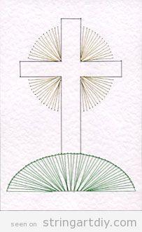 pattern free download string art cross on hill Cross on a hill, String Art free pattern