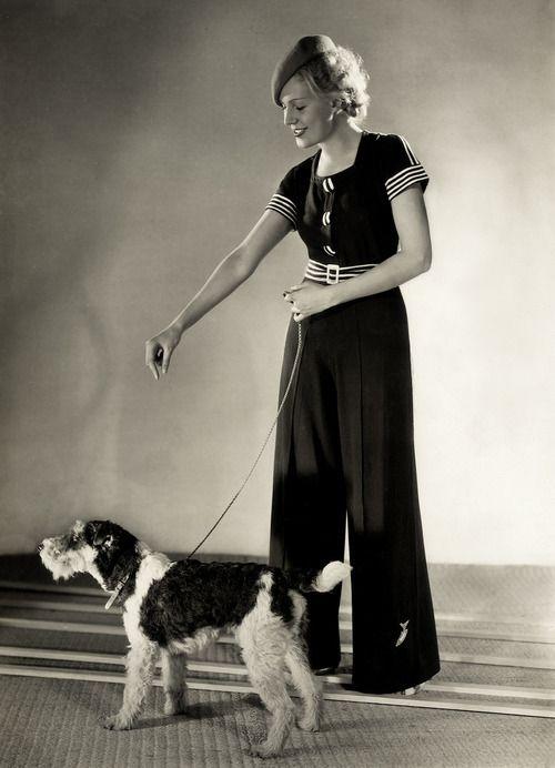 Nautical Fashion and a Fashionable Dog, by Yva, c.1932