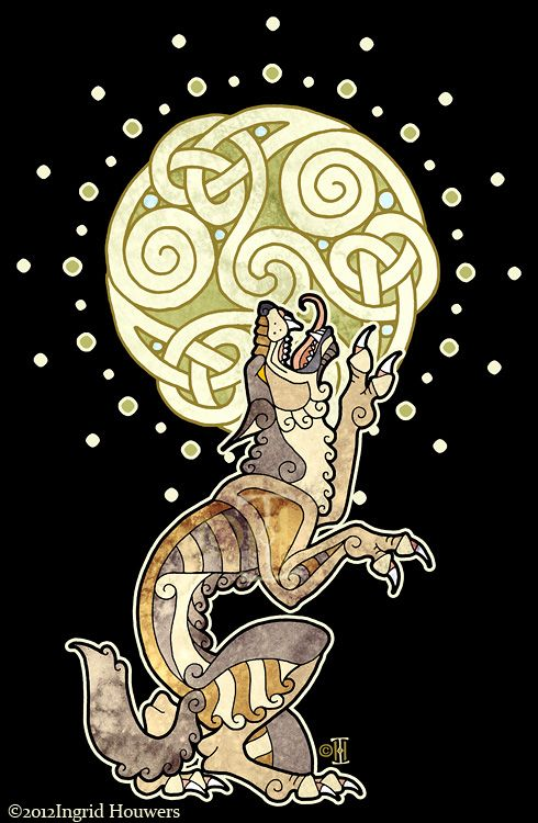 Celtic Werewolf ... I suddenly feel a burning desire to have this tattooed somewhere on my body....