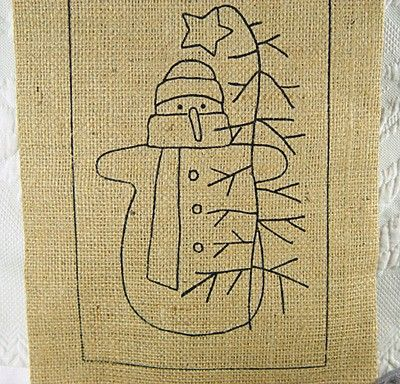Quick and Easy Primitive Crafts | Snowman Rug Hooking Kit Primitive Crafts Includes Preprinted Pattern ...