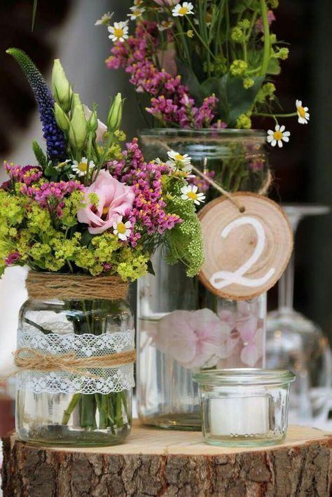 Tischdekoration Vintage Hochzeit auf Land Gut Höhne #weddinginspiration #hochzeit #Floristik – Martine Håvik Norum – Annabelle Böhringer