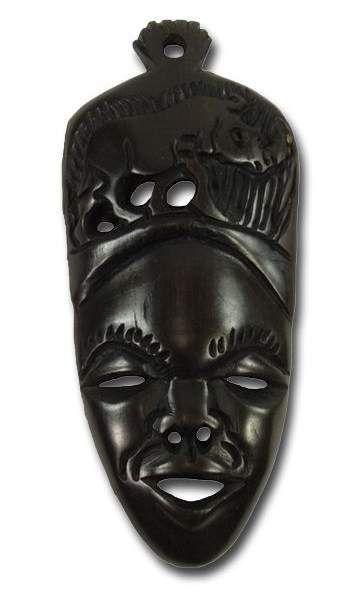 African Ebony wooden tribal mask