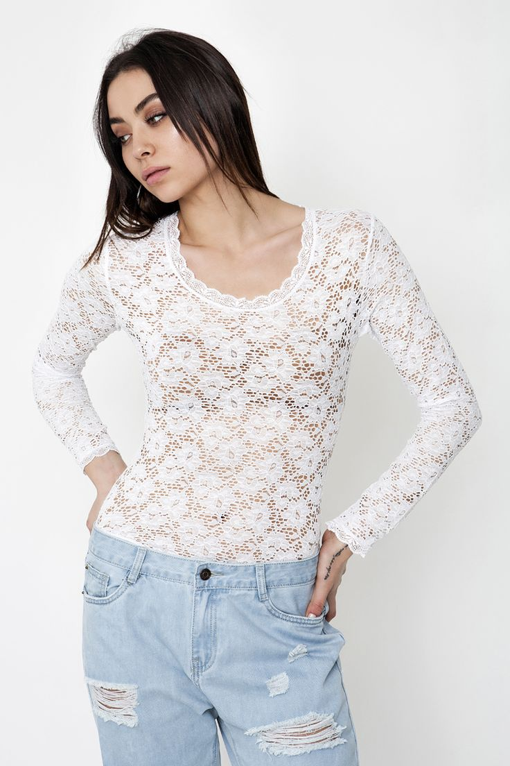 Sheer Lace Κορμάκι - ΡΟΥΧΑ -> Μπλούζες   Made of Grace