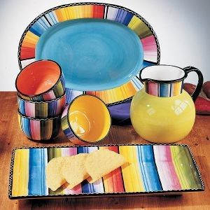 Love my dish set....just wish i could find more of these bowls. Certified International Nancy Green Serape