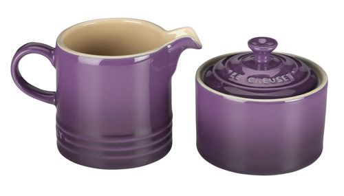breaking bad purple bedroom picture | Purple Le Creuset Cream and Sugar Set