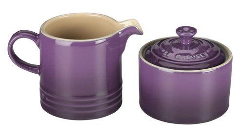breaking bad purple bedroom picture   Purple Le Creuset Cream and Sugar Set