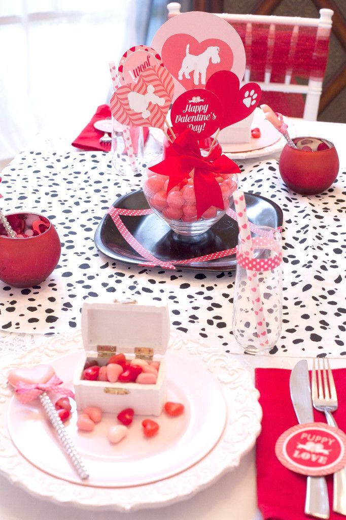 Add Washi Tape to dishes or glasses for an instant Valentines touch!