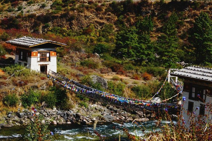"""""""Iron chain bridge aka Tachog Lhakhang #dzong ng located on the way to paro #valley , the bridge was build in the late 1300s!!! #netgeo #lonelyplanetindia…"""""""