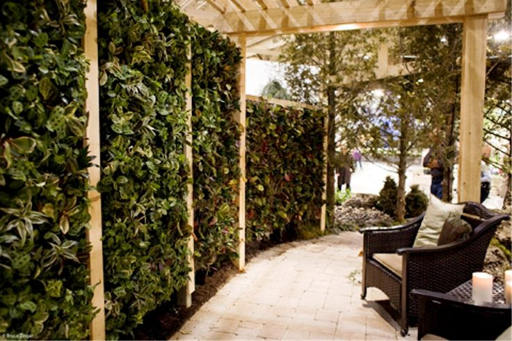 17 best images about outdoor privacy screens on pinterest for Vertical garden privacy screen