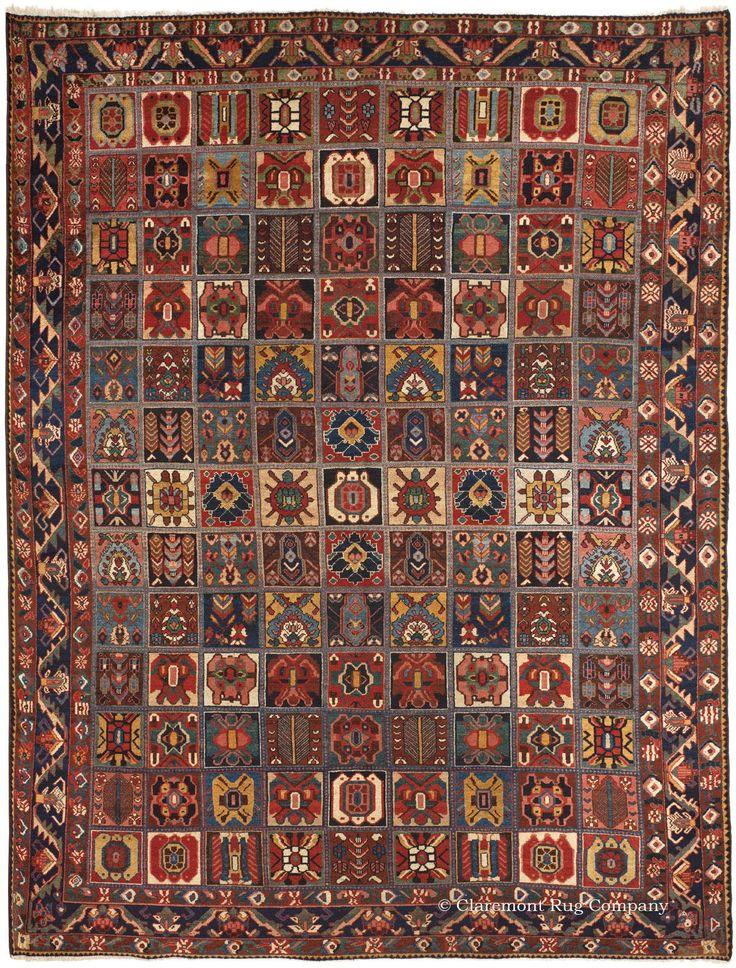 Schwedische Tapeten Und Stoffe : BAKHTIARI GARDEN COMPARTMENT RUG, Central Persian 9ft 0in x 11ft 6in