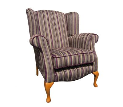 Stripe Queen Anne Chair. This chair is available in other fabrics.   http://drumbristonfurniture.ie/chairs13.html