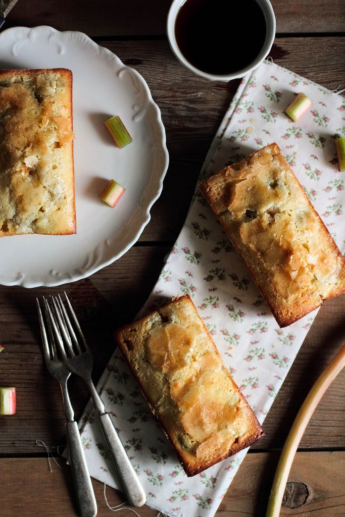 Rhubarb Vanilla Pound Cake- made this tonight..it is delicious! (Not to mention it smelled heavenly while baking)