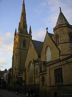 Cathedral Church of St Marie, Sheffield, Yorkshire.