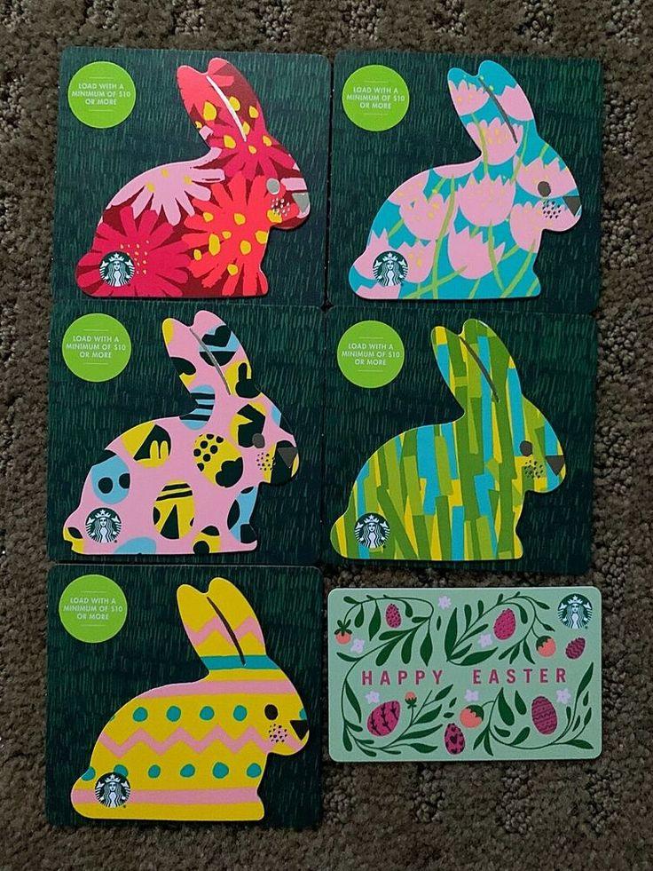 Canada series starbucks mini easter 2020 6 gift cards