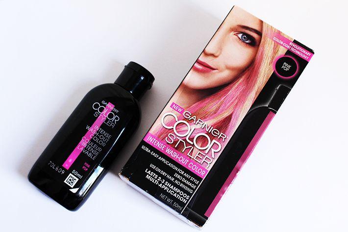 Tinta colorida temporária = meu sonho <3 http://www.gosteieagora.com/2015/06/29/coloracao-temporaria-garnier-color-styler-pink-pop