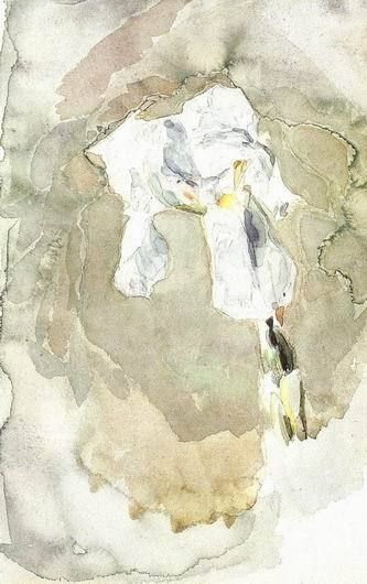 Mikhail Vrubel. White Iris. 1886-1887. Watercolor on paper.