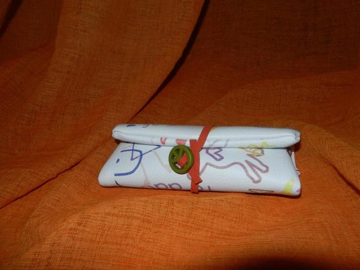 multicolor leather   tobacco hand case*