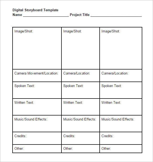 As 25 melhores ideias de Storyboard pdf no Pinterest Storyboard - digital storyboard templates